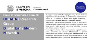 Ciclo di seminari a cura di: DEaMoNs Research Group Digital Early Modern Networks